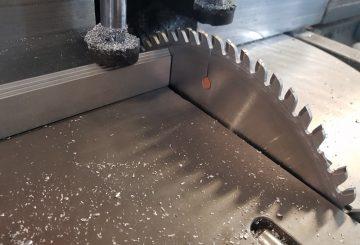 Aluminium Extrusion - Circular Saw Cut