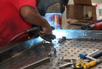 MIG TIG Spot Weld Grind - Angle Iron Framework